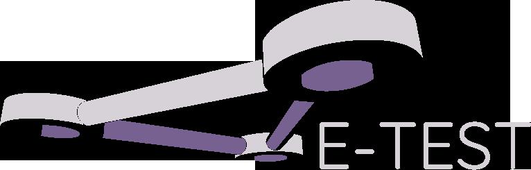 E-TEST logo